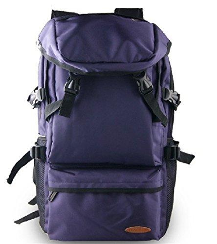 Wewod Las Hombres y Mujeres Ocio Mochilas de Viajes Alta Capacidad Mochila de s Ordenador 15 Pulgadas ,Al Aire Libre,Camping,Treking (Púrpura) Púrpura