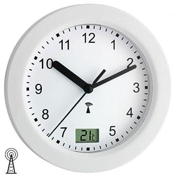 Funk Badezimmeruhr Wanduhr Bad Uhr Kunststoffuhr Badezimmer Weiss