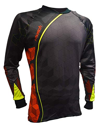 Reusch Soccer Sentinel Pro-Fit Long Sleeve Goalkeeper Jersey, Black/Orange, Adult -