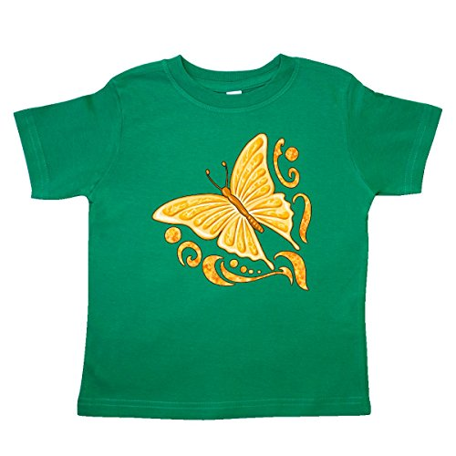 inktastic - Orange Butterfly Toddler T-Shirt 4T Kelly Green 2fd1d -
