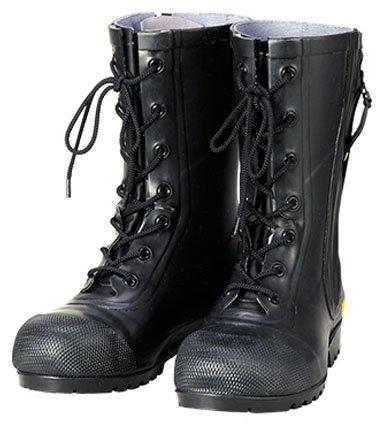 シバタ工業 消防団員用ゴム長靴 SG201 黒 30.0cm ※メーカー直送品 AF020 B0783959XH
