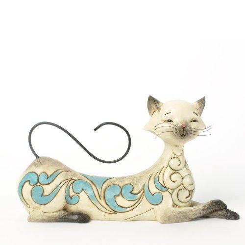 Jim Shore for Enesco Heartwood Creek Lying Siamese Cat Figurine, 4.25-Inch
