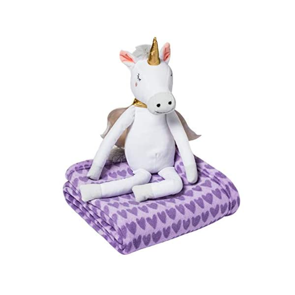 by-pillowfort-Unicorn-Throw-Blanket-Hugger-for-Girls-Plush-Animal-Soft-Warm-2-Pc-Set