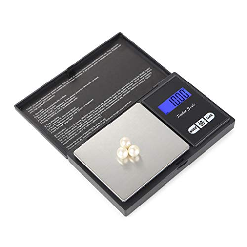 Fan-Ling Stainless Steel Digital Scales, 600g /0.01g Precision Scale, Electronic Smart Scale for Gold Jewelry, LCD Backlit Display (Best Scale App For Weed)