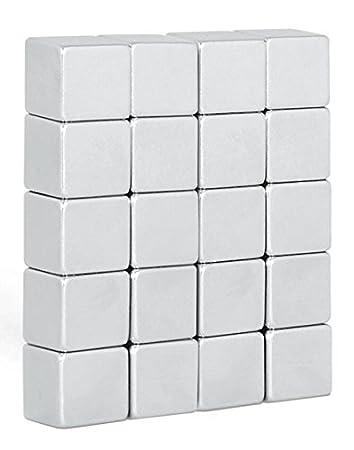 10 potentissimi magneti al neodimio cubi (10x10x10mm) / ideale per whiteboard e lavagne magnetiche i SDM SDM-004