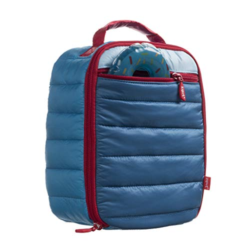 ZIPIT Puffer Lunch Bag + Free Ice Pack, Blue (Puffer The)