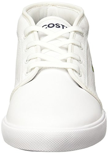 Lacoste Hommes Amththill Lcr3 Spm Formateurs, Blanc Blanc Blanc