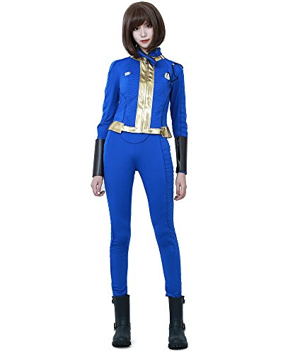 (Miccostumes Women's Sole Survivor Nora Cosplay Costume WM Blue)