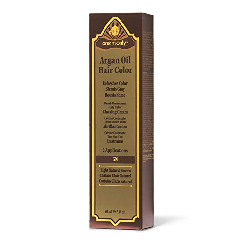 One 'n Only 5N Light Natural Brown Demi Permanent Hair Color Glossing Cream #5N Light Natural Brown