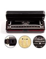 JSL Harmonica, Standard Diatonic Key of C 10 Holes 20 Tones Blues Mouth Organ Harp For Kids, Beginners, Professional, Students