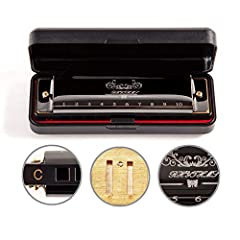 JSL Harmonica This pocket size Harmonica/Mouth Organ/Harp features 10 holes giving the player 20 tones and is designed to allow the player to play chords and melodies in a single key, This key C Harmonica/Mouth Organ/Harp is perfect for solo ...
