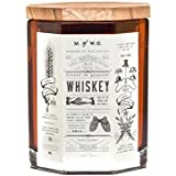 Makers of Wax Goods Large Richly Scented Candle Wood Wick -- Whiskey