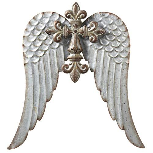 Fleur Wing - MIDWEST-CBK, Large Cross with Wings, Metal