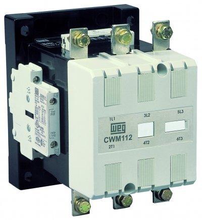 WEG Electric CWM150N-22-30E13, 3-Pole, 150 Amps, 208-250VAC/DC Coil, IEC Contactor