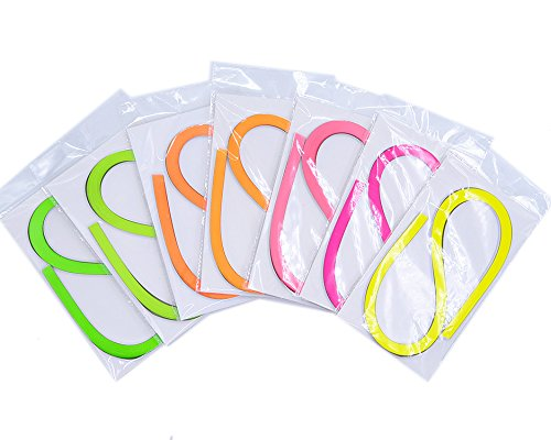 Raylinedo® DIY Party Decoration Quilling Paper Strips Quilling Art Strips 700 Strips 7 Colors Quilling Paper Set 5mm Width 54cm Length WZFS