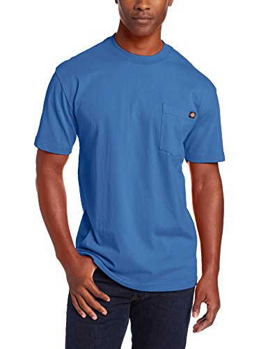 Dickie's Men's Short Sleeve Heavyweight Crew Neck Pocket T-Shirt, Royal Blue, Medium