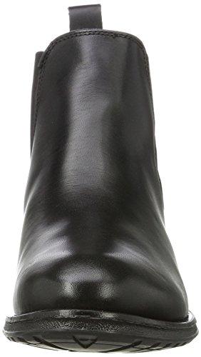 Buffalo London ES 30882 Garda, Botas Chelsea Para Mujer Negro (Preto 01)