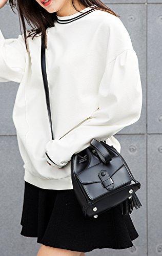 MinottaUSD6039 de de elegante Sintético Negro mano Minotta Mujer bolso STEwdCdq