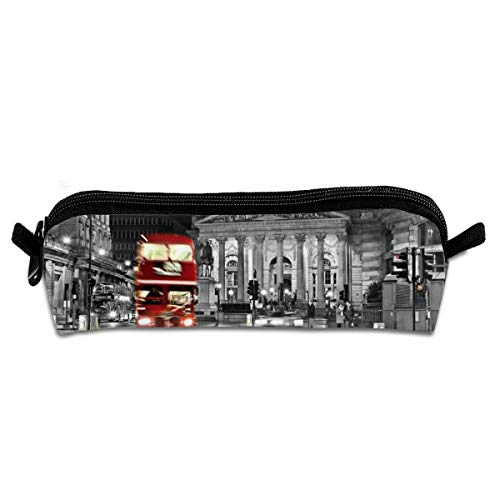 - Wodehous Adonis London Red Bus St Paul's Cathedral Tower Traffic Canvas Cosmetic Pen Pencil Stationery Pouch Bag Case