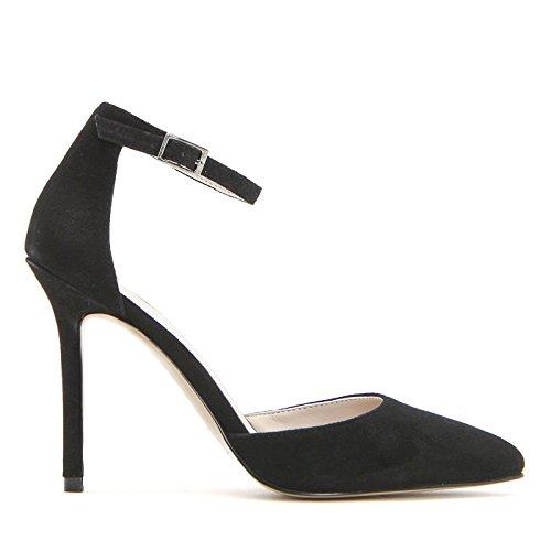 ALESYA by Scarpe&Scarpe - Sandalias altas con punta alargada y correa en el tobillo Negro