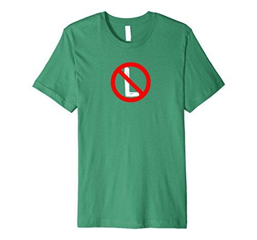 Mens Premium No L Noel Christmas T-Shirt Large Kelly Green (Christmas Pagaent)
