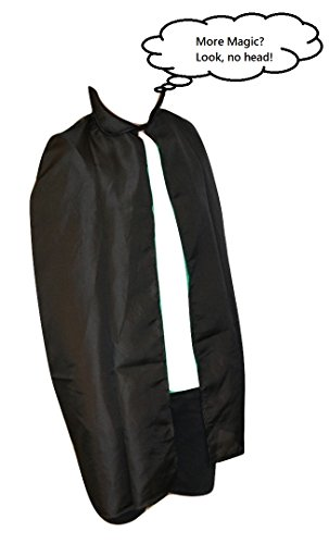 [Child's Black Magic Cape (One Size) Magician, Vampire Halloween costume] (Costume Land)