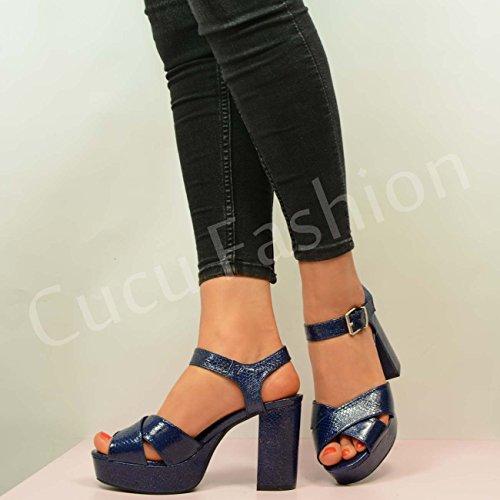 Cucu Fashion CucuFashion New 2016 High Heels Sandals Navy Sparkle yiioVPvJsW