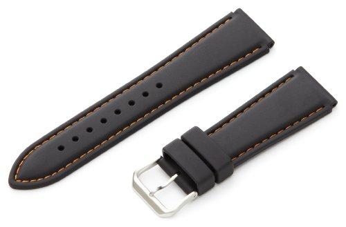 Hadley-Roma Men's MS3445RAG220 22-mm Genuine Rubber Diver Sport Watch Strap (Genuine Rubber)