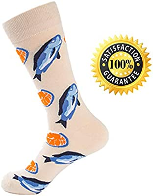 Morbuy Calcetines Deportivos Hombre, Mezcla de Algodon Calcetines Gruesos Mantener Caliente Mariscos 2 Pares Largo Mediano para Calcetines. (Salmón)