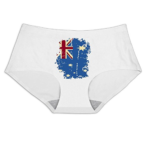 JaneDesign Vintage British Flag Retro Women's Breathable Ice - Silk Underpants Underwear (Silk Vintage Panties)