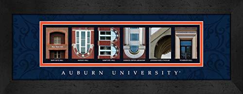 Prints Charming Letter Art Framed Print, Auburn University-Auburn, Bold Color Border