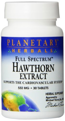 Planetary Herbals Full Spectrum Hawthorn Extract Tablets, 30 Count by Planetary - Full Extract Spectrum Hawthorn