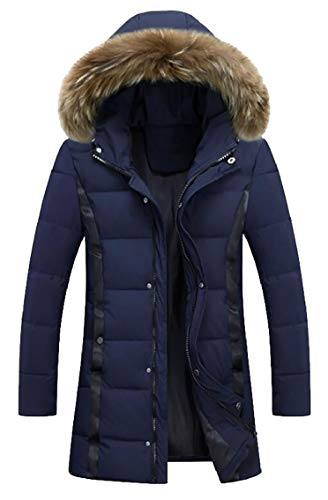 Jackets Winter Blue Hooded Down Padded Men's Zip Coats Packable Gocgt ZRU5q8xSwy