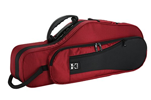 Kaces KBFR-AS4 Lightweight Hard-shell Alto Sax Case, Dark Red