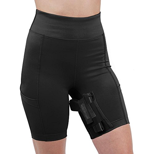 UnderTech UnderCover Women's Concealed Carry Thigh Holster Shorts (Small, Black)