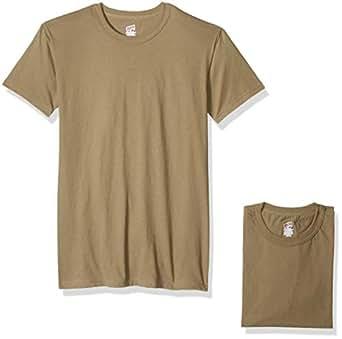 Soffe Mens 685M-3 100% Soft Spun Cotton Short Sleeve T-Shirt 3 Pack Short Sleeve Shirt - Beige - Medium