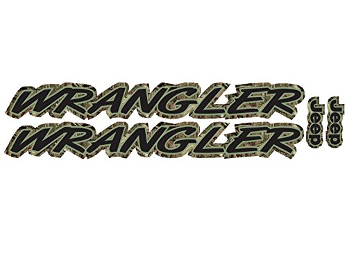 Wrangler - Mossy Oak Camo - 2 piece hood decal set for Jeep (Full Oak Hood)