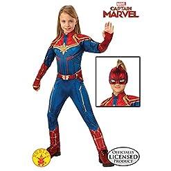 Girls Captain Marvel Hero Suit Deluxe Superhero Costume