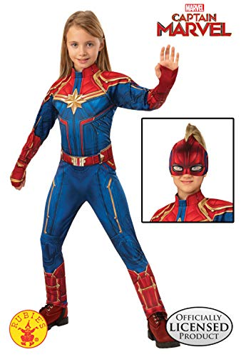 Looking Up Girls Dresses (Rubie's Captain Marvel Children's Deluxe Hero Suit, Small)