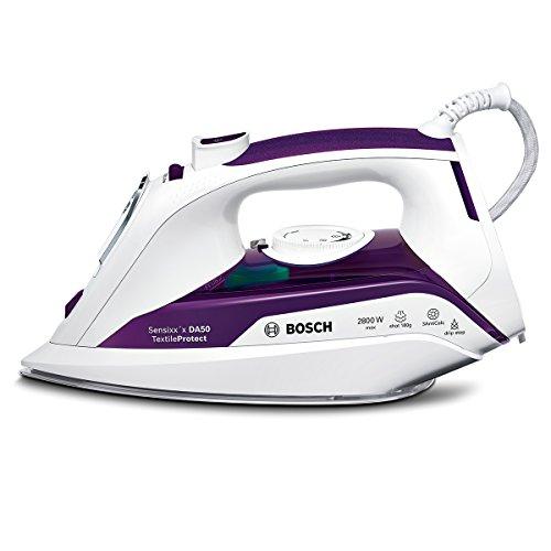 Bosch TDA502801T - Plancha de vapor, 2800 W, color blanco y morado