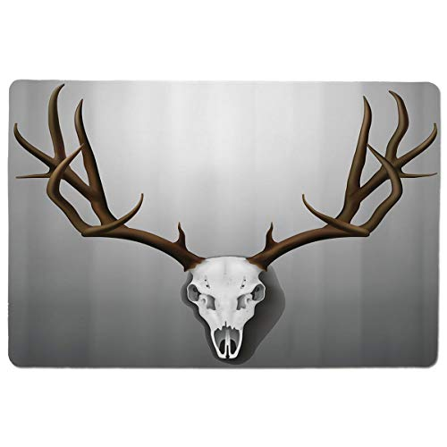 SCOCICI Gaming Mouse Pad with Stitched Edges,Realistic Deer Skull with Large Horns Elk Skeleton on Abstract Backdrop Decorati,Non-Slip Rubber Base Mousepad for Laptop,Computer & PC 23.6x15.7X0.1 inch]()