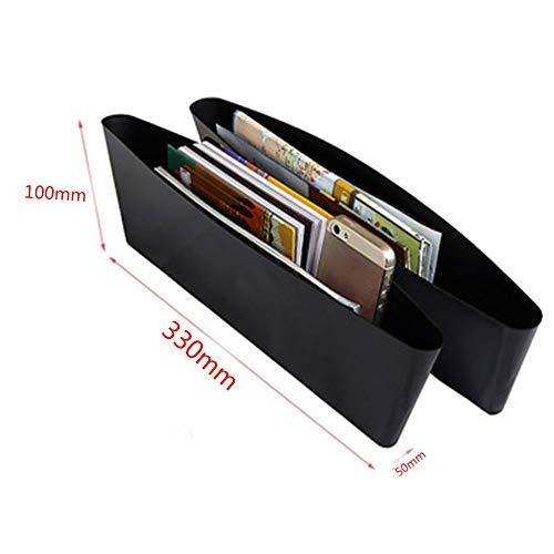 Caja de almacenamiento del coche negro Gap Filler Consola de pl/ástico Organizador de bolsillo Interior Accesorios Asiento de coche Lado Ca/ída Caddy Catcher