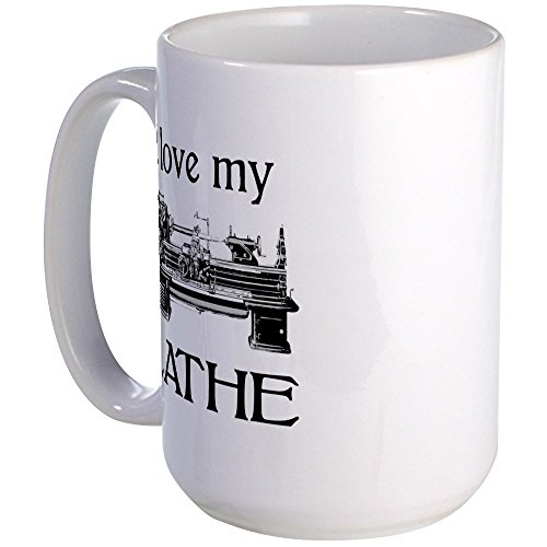 CafePress Lathe Coffee Large White
