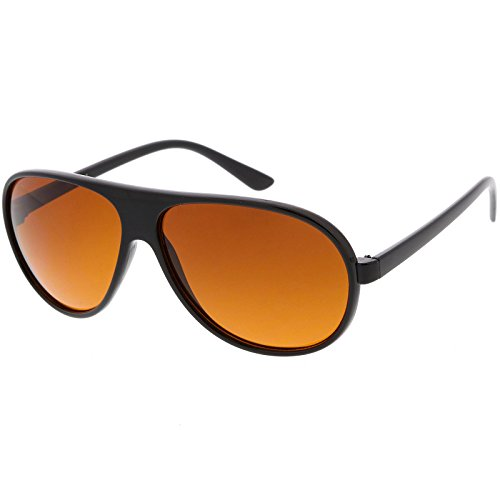 Retro 80s Tear Drop Plastic Aviator Sunglasses w/ Blue Block