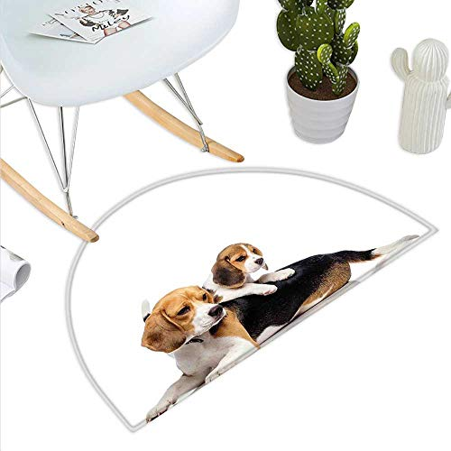 Beagle Semicircle Doormat Cute Family with Mother and for sale  Delivered anywhere in Canada
