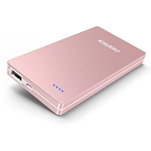 CHOETECH Batería Externa 10000mAh Cargador Portátil Power Bank Ultra-Delgada Cargador de Batería Portátil para iPhone...