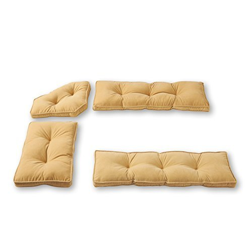 - Greendale Home Fashions 4-Piece Nook Cushion Set Hyatt, Cream by Greendale Home Fashions