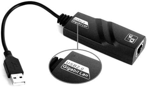 USB 2.0 Gigabit Ethernet Adapter Black Rcsbtd Supports 10//100//1000 Mbps auto-Sensing Capability