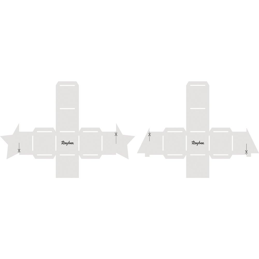 Plantilla de papel estrella y abeto, fertige Cajas 4,5 x 4,5 cm: Amazon.es: Hogar