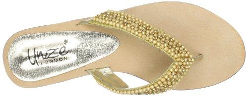 Unze Evening Slippers L18329W - Sandalias para mujer Dorado